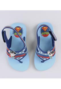 Chinelo Infantil Grendene Super Homem Azul Marinho