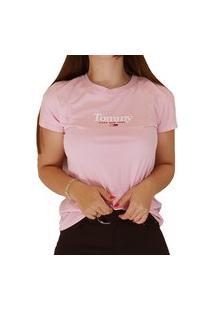Camiseta Feminina Tommy Jeans Rosa