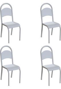 Conjunto Com 4 Cadeiras Wodon Branco