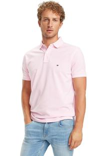 Polo Tommy Hilfiger Masculina Regular Fit Sweet Lilac