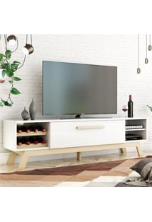 Rack Para Tv Vert Branco Natural Casah