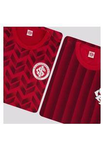 Kit De 2 Camisas Internacional Ruy Vermelha