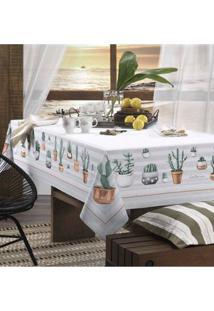 Toalha De Mesa Karsten Cinza/Verde