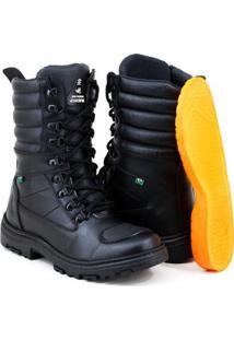 Bota Em Couro Sw Shoes Palmilha Em Gel Masculina - Masculino