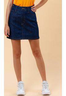 Saia Curta Jeans Azul