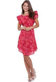 Vestido Feminino Estampa Floral Babado Marisa