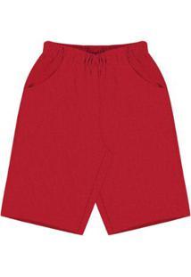 Bermuda Infantil Premium Rovitex Kids Masculina - Masculino-Vermelho