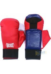 Luva Para Karate C/ Polegar Vrm - Knockout
