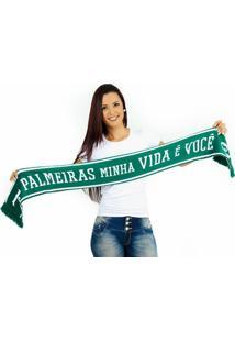 Cachecol Palmeiras Dupla Face - Unissex