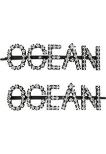 Ashley Williams Presilhas De Cabelo Ocean - Preto