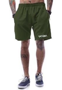 Bermuda Tactel Ukkan Basic - Masculino-Verde Militar