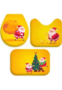 Jogo Tapate Love Decors Para Banheiro Cute Noel Yellow Único Amarelo - Kanui