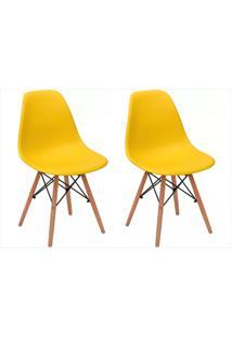 Kit Cadeiras Facthus Eiffel Amarelo,