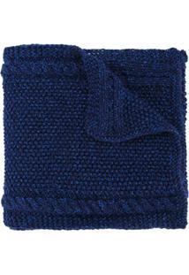 0711 Cachecol 'Lyudmila Tussey' - Azul