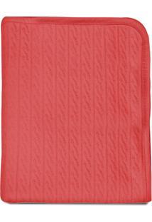 Manta Com Forro- Vermelho Claro- 80X90Cm- 30 Fiopapi