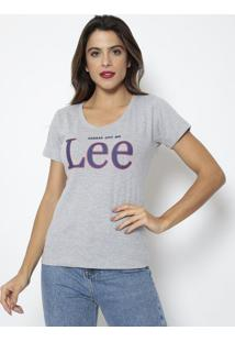 "Camiseta ""Kansas City""- Cinza & Azul Marinho- Leelee"