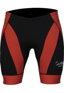 Bermuda De Corrida Rh Sports X4 Performance Preto/Vermelho