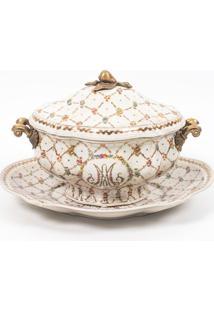 Sopeira Decorativa De Porcelana Le Petit Perle