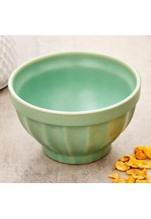 Tigela Bowl De Cerâmica Retrô 570Ml Verde Fosco Verde Fosco