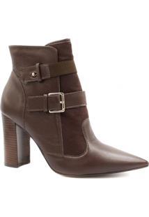 Bota Cano Curto Zariff Shoes Ankle Boot Salto Alto Feminina - Feminino