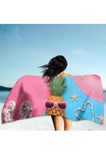 Toalha De Praia / Banho Fashion Pineapple