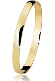 Alianca Semijoia Banho De Ouro 18K - Unissex-Dourado