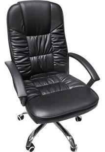 Cadeira Office New York- Preta & Prateada- 117X57,5Xor Design