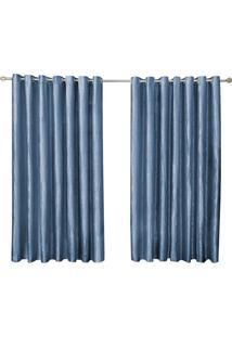 Cortina Grécia Poliéster 3,00X2,70 Azul