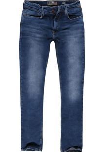 Calça Jeans Reta Jeans Delave