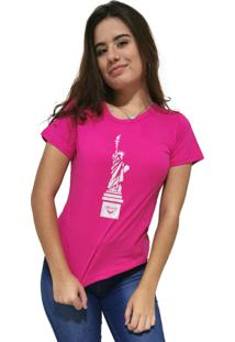 Camiseta Feminina Cellos New York Premium Rosa