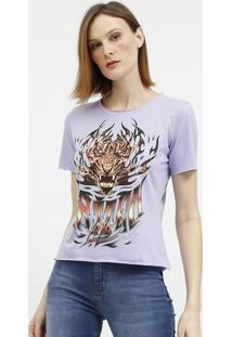 "Camiseta Tigre & ""Triton""- Lilã¡S & Vermelha- Tritontriton"