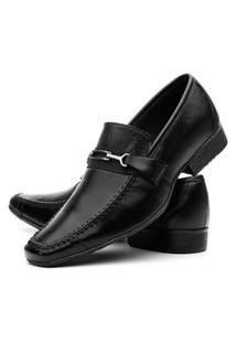 Sapato Social Masculino Mr Shoes Em Couro 8610 - Preto