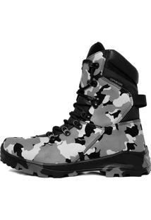 Bota Militar Acero Assault Camuflada.