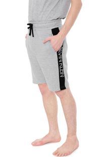 Bermuda Calvin Klein Underwear Reta Lettering Cinza