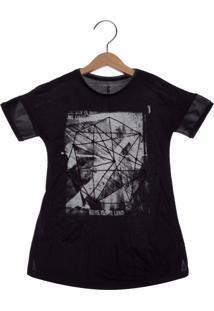 Camiseta Calvin Klein Kids Estampa Infantil Preta
