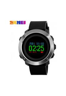 Relógio Skmei Digital -1336- Preto E Prata