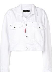 Dsquared2 Jaqueta Jeans Cropped - Branco