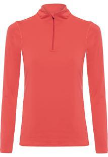 Camiseta Feminina W Legends Half Zip - Vermelho