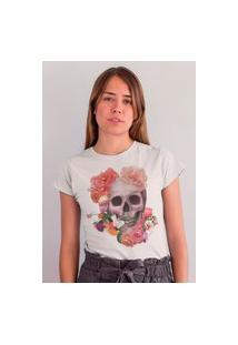 Camiseta Feminina Mirat Coroa De Flores Branco
