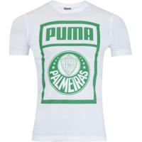 Camiseta Do Palmeiras Graphic 2019 Puma - Masculina - Branco Verde 9e71daa549277