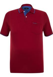 Polo Plus Size Piquet Classic New Vermelha