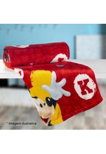 Manta Fleece Solteiro Mickey®- Vermelha Preta- 125Lepper