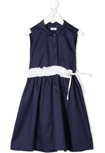 Il Gufo Vestido Com Babados - Azul