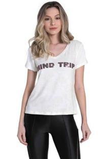 Camiseta Osmoze Ethos Feminina - Feminino-Branco