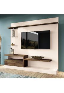 Estante Para Home Theater E Tv 60 Polegadas Paládio Off White E Tv Deck