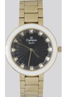 Relógio Analógico Champion Feminino - Cn29972P Dourado - Único