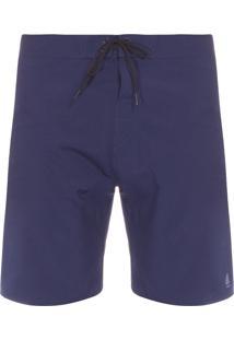 Bermuda Masculina Lisa Com Bolso - Azul