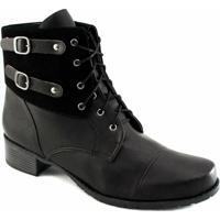 2fe0f357c Coturno Feminino Inverno Numeração Especial Sapato Show - Feminino-Preto