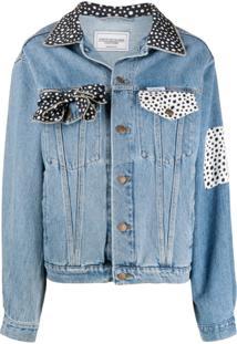 Forte Dei Marmi Couture Jaqueta Jeans Com Contraste De Poás - Azul
