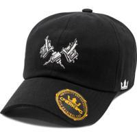 Boné Overking Aba Curva Dad Hat Strapback Tattoo Machine - Masculino-Preto c4638d9104f